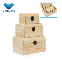 Custom packaging gift bamboo wood box with lock
