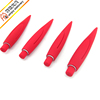 Promotion plastic ball pen with soft touch unusual shape dark red big ball pen factory