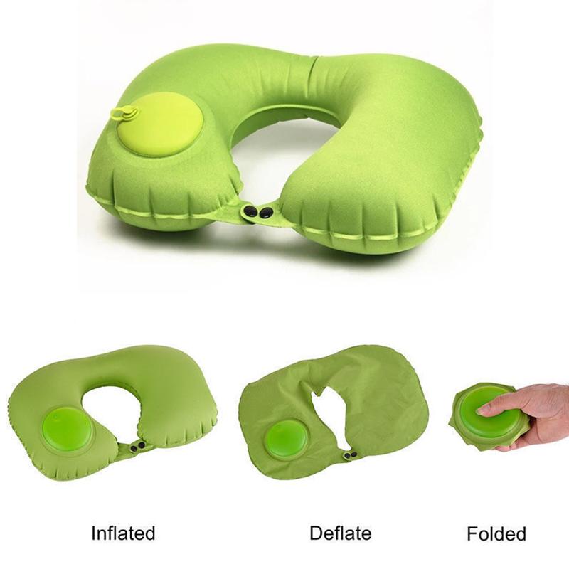 Higu quality U shape pillow travel pillow cooling foldable inflatable