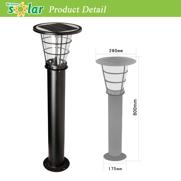 Top Quality Stainless Steel Bollard Solar Led Garden Light For Outdoor