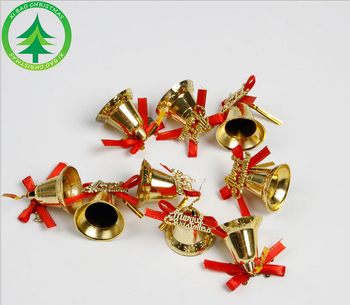 yiwu xibao factory supplier double bells shopping mall christmas decorations