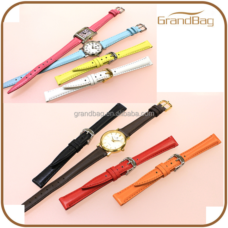 Wholesale leather watch bands belt ladies sharp tip classic watch band for women