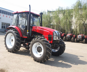 new design hot sale farm tractor 1204 120Hp 4 WD, air conditioner,shuttle shift, use YTO,DEUTZ engine front loader back hoe
