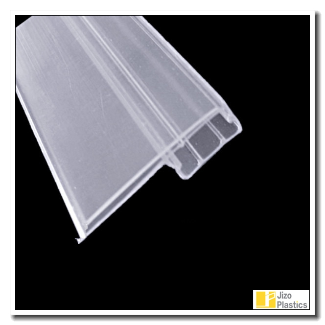 PVC label holder transparent Plastic strip, extruded price ticket holder