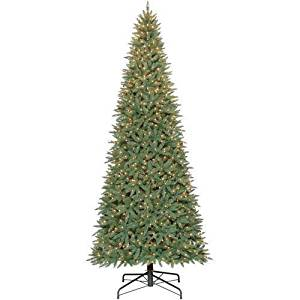 Kize2016 12-Ft-Artificial-Christmas-Tree-Stand-Included-Prelit-Trees-Lights-Holiday-Tall