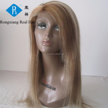 Cheap wholesale natural human virgin remy peruvian hair lace wig