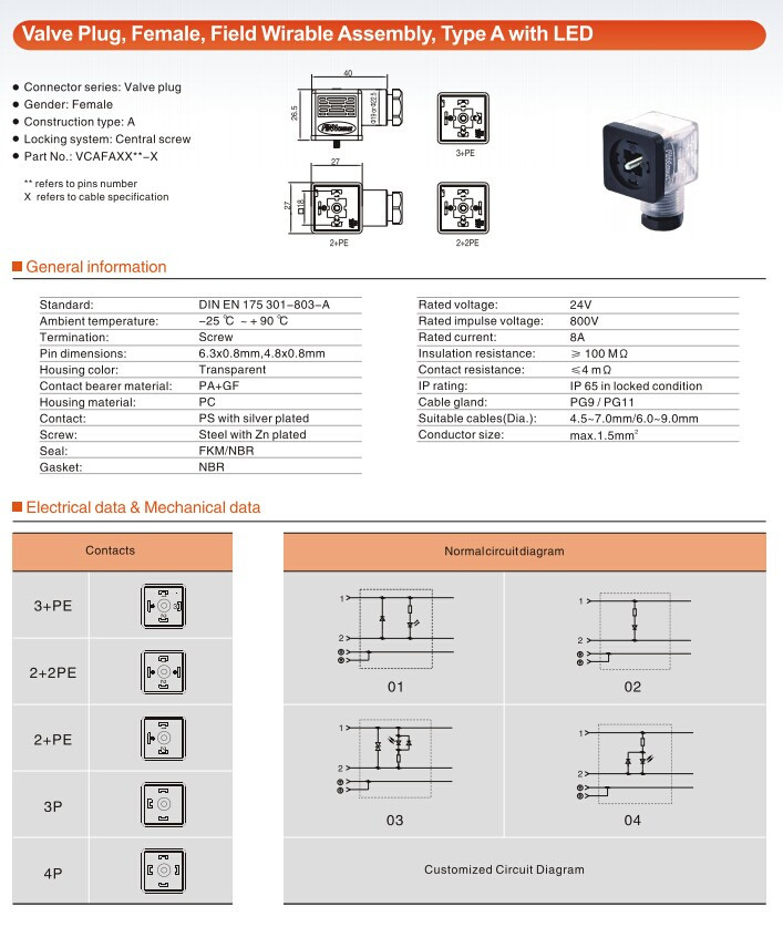 Pre-mold Valve Robust Connection Solution Secure Transmission Ip67 Rating  Led Butt Plug - Buy Led Butt Plug,Waterproof Ip67 Magnetic Valve,Solenoid