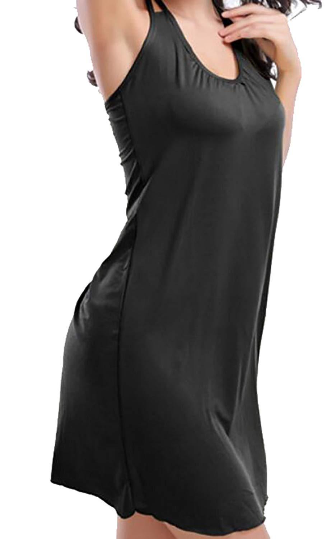 684e3fb73b Get Quotations · YUNY Women's Sexy Bikini Swim Coverups Sleeveless Halter Beach  Dress
