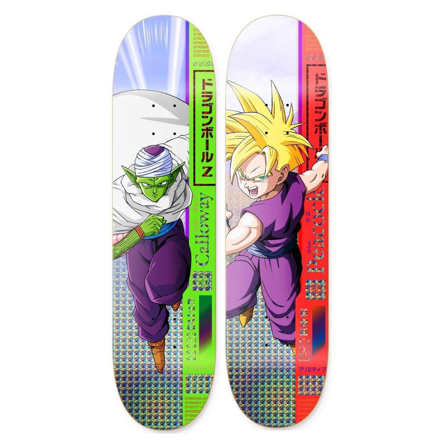 Primitive Dragon Ball Z Skateboard Decks Piccolo Gohan 2 Pack DBZ Deck BULK
