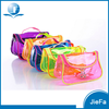 candy color mini size PVC transparent beautiful dressing cosmetic toiletry makeup bags with handles