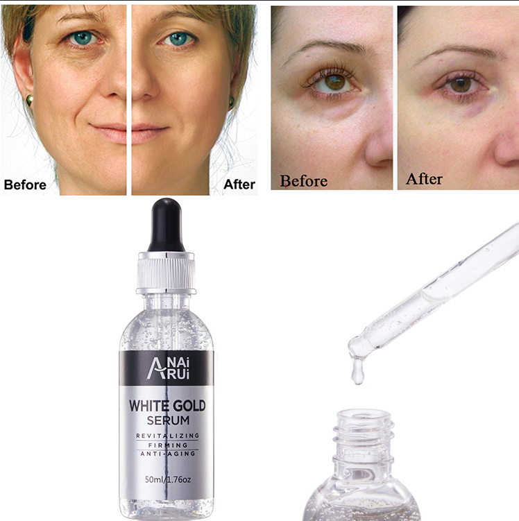 OEM Silver Collagen Moisturizing Whitening Facial Serum Anti Wrinkle Anti Aging White Gold face oil