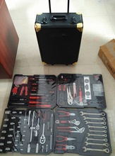 186 pcs kraftman tool set with mechanical hand tools in alu case