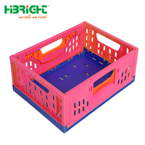 China factort new Plastic foldable and stackable crate with active lock