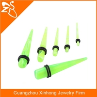 Twister Green Marbled Ear Tapers Expande Piercing,,acrylic tunnel body piercing jewelry