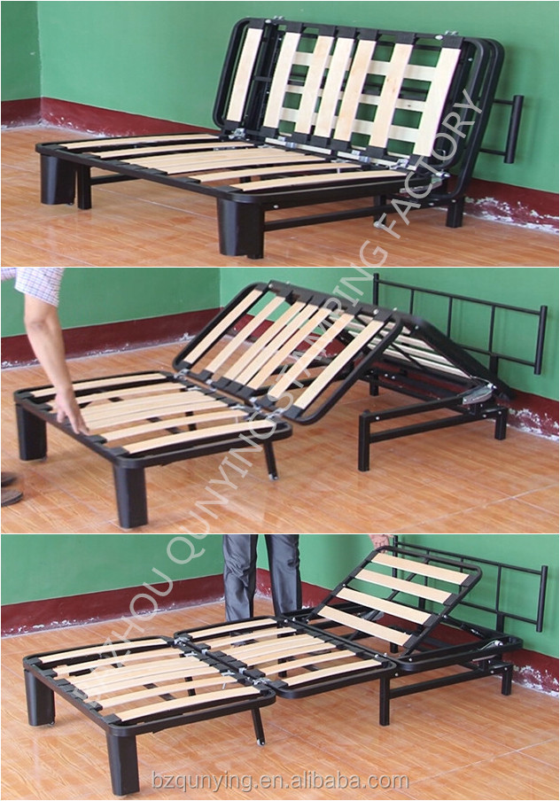 new model Hot sale wood slatted tri-fold bed base