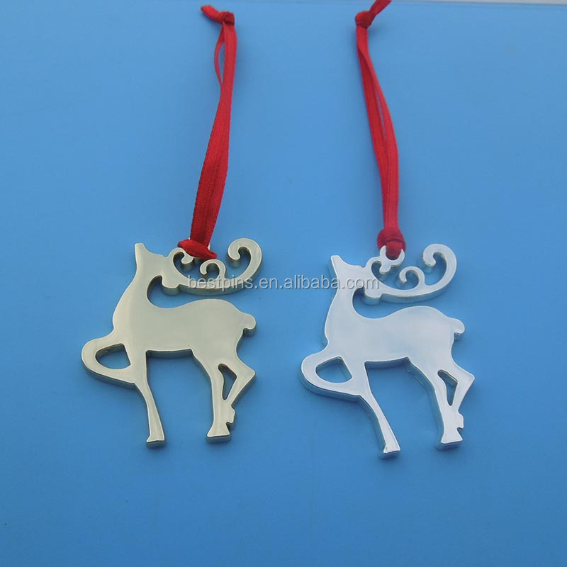 Christmas Hanging deer charm metal crafts
