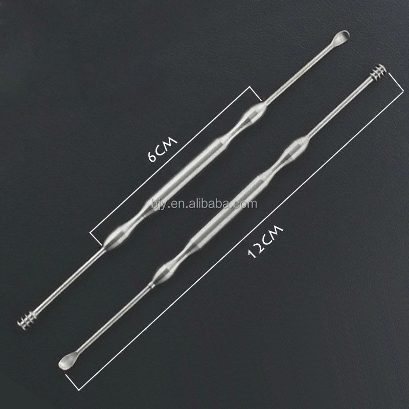 Alibaba Wholesale Stainless Steel Spiral Ear Pick Wax Remover Extraction Kit Cleaner Tool
