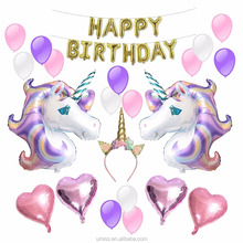 Umiss Unicorn Party Supplier, Foil, Latex Balloons Birthday Party Supplies for Kids Birthday Decorations, Baby Shower Decor