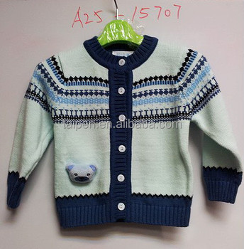Wholesale Knit Pattern Free Baby Boys Sweater And Cardigan Kids