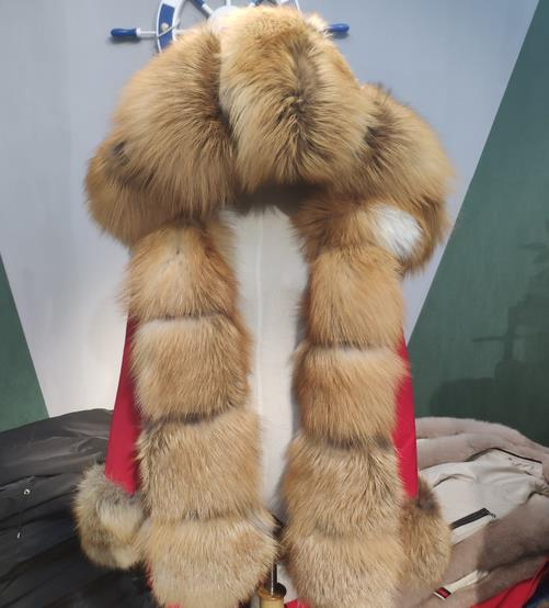 <strong>Women</strong> Long Wool Parkas Warm <strong>Trench</strong> Real Fox Fur Outerwear <strong>Coat</strong> <strong>For</strong> Heavy