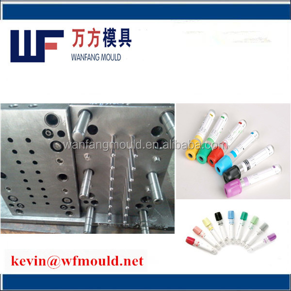 Wanfang Mould supply 8 cavity cheap plastic medical blood test tube mould