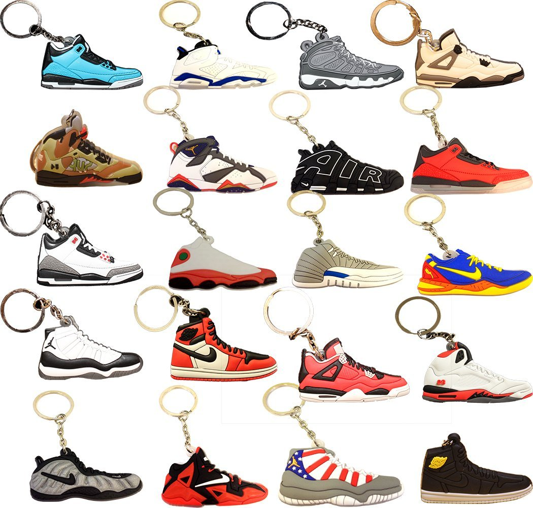 fa2810e1b32028 Air Jordan Michael Jordan Shoe Game Basketball Jumpman Key Chain Keychains  (Get these 20 Keychains