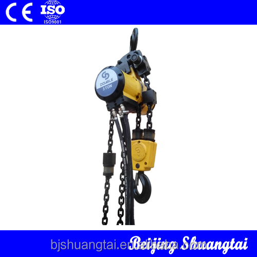 3 ton double chain air hoist for coal mine and oil drilling.