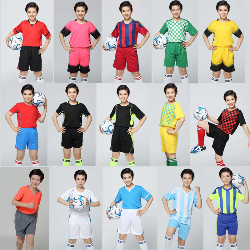 2017 Customized New Club kids Soccer jersey, youth soccer uniform
