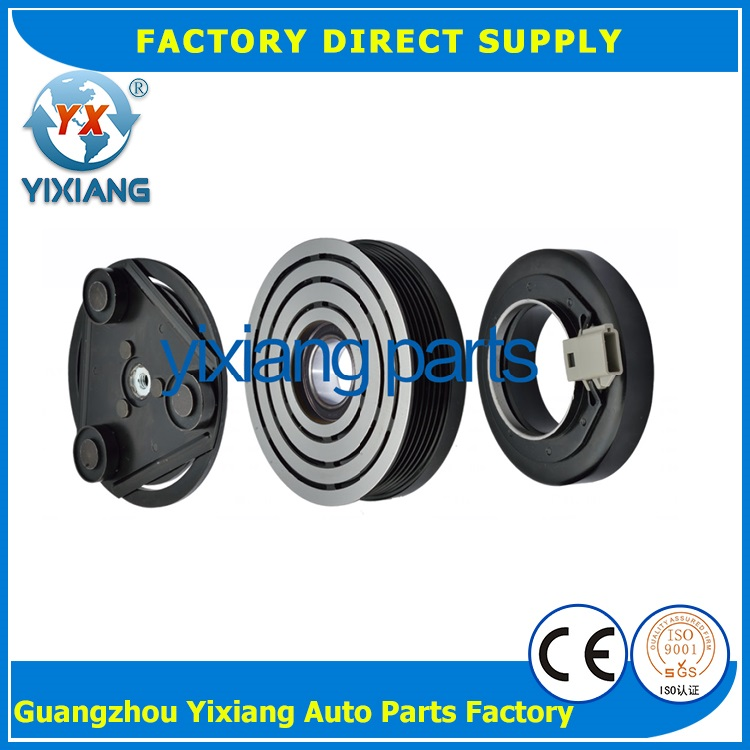 Car Electric Parts 115MM 7PK Pulley AC 12V Scroll Compressor Magnetic Clutch For Ford Mondeo