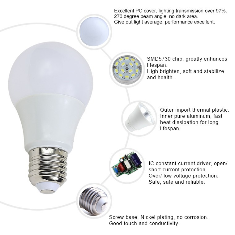 Wholesale Home 5630 Smd 220 Volt Dimmable 7w E27 Led Light Bulb ...