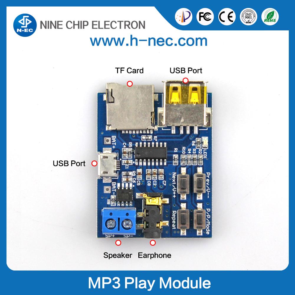 Usb Mp3 Vtf108 Circuit Sound Voice Recording Module