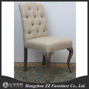 Ordinaire French Style Tufted Upholstered Dining Chair