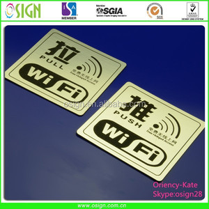 Engraving ABS Laser/CNC double metalic colour indicating sign board/sheet/plate/panel