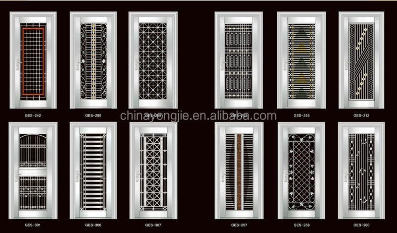 China zhejiang factory exterior glass door stainless steel for New door design 2015