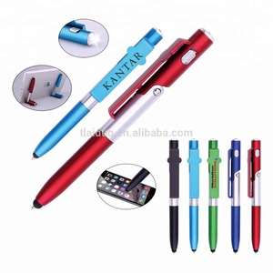 2018 hot selling cheap price LED light phone holder pen with custom logo