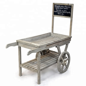 Vintage Wooden Store Display Cart With Chalkboard - Buy Bread Carts With  Wheels,Rolling Display Cart,Wooden Display Cart Product on Alibaba com