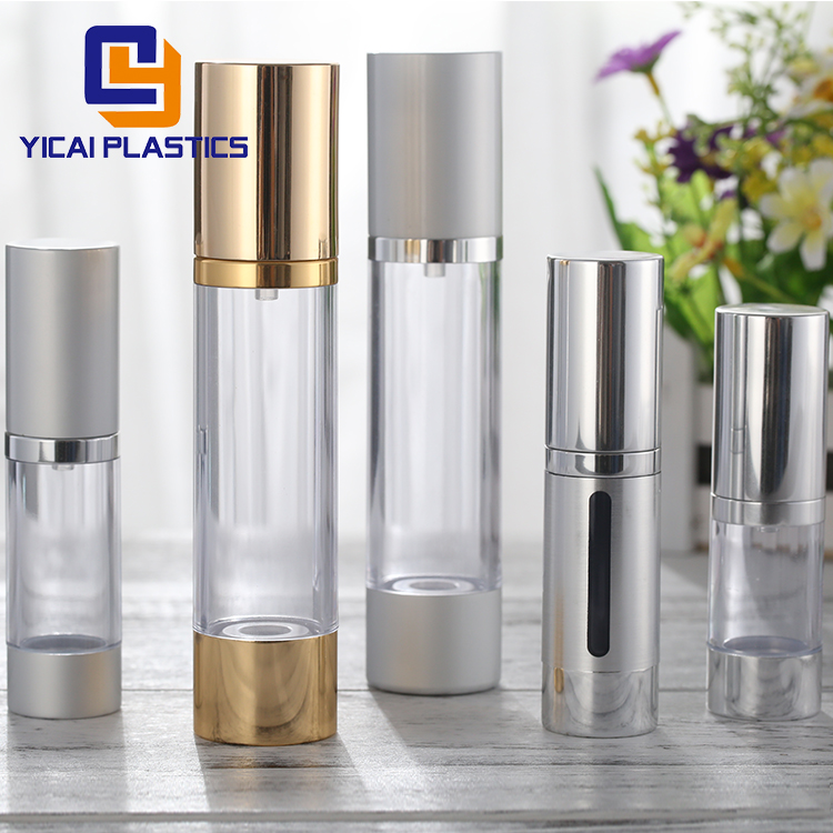 Free Sample 10ml 15ml 20ml 30ml 50ml 80ml 100ml 200ml Aluminum Luxury Cosmetic Plastic Airless Bottle