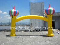 Good Performance/High Strength inflatable arch with balloons P1007