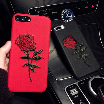 newest a0605 838e9 Getihu Embroidery Rose Case For Iphone 7 Plus Cover Capa Coque For Iphone 7  Case 360 Degree Protection For Iphone 7 7plus - Buy For Iphone 7 ...