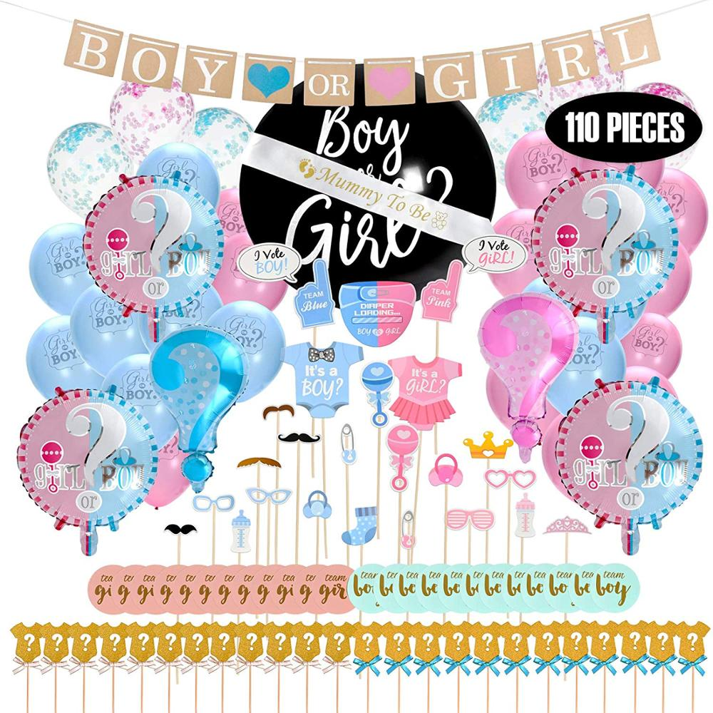 Luftballons Party Supplies Dusche Kuchen Gender Reveal Konfetti Poppers