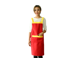 Customized/red Color and Custom Sizes Size polyester cotton apron men and women strap sexy apron