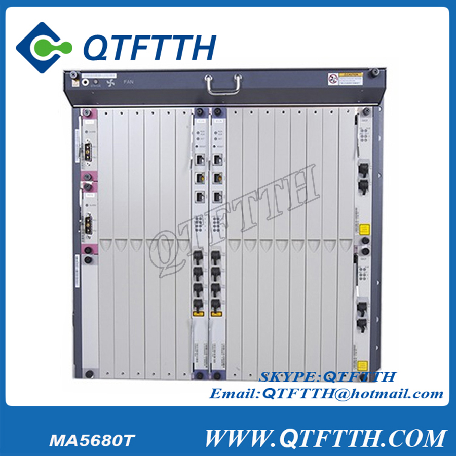 Brand new english version huawei ma5680t olt gpon ftth equipment huawei gpon olt ma5680t apply for 16ports SFP 8ports SFP board