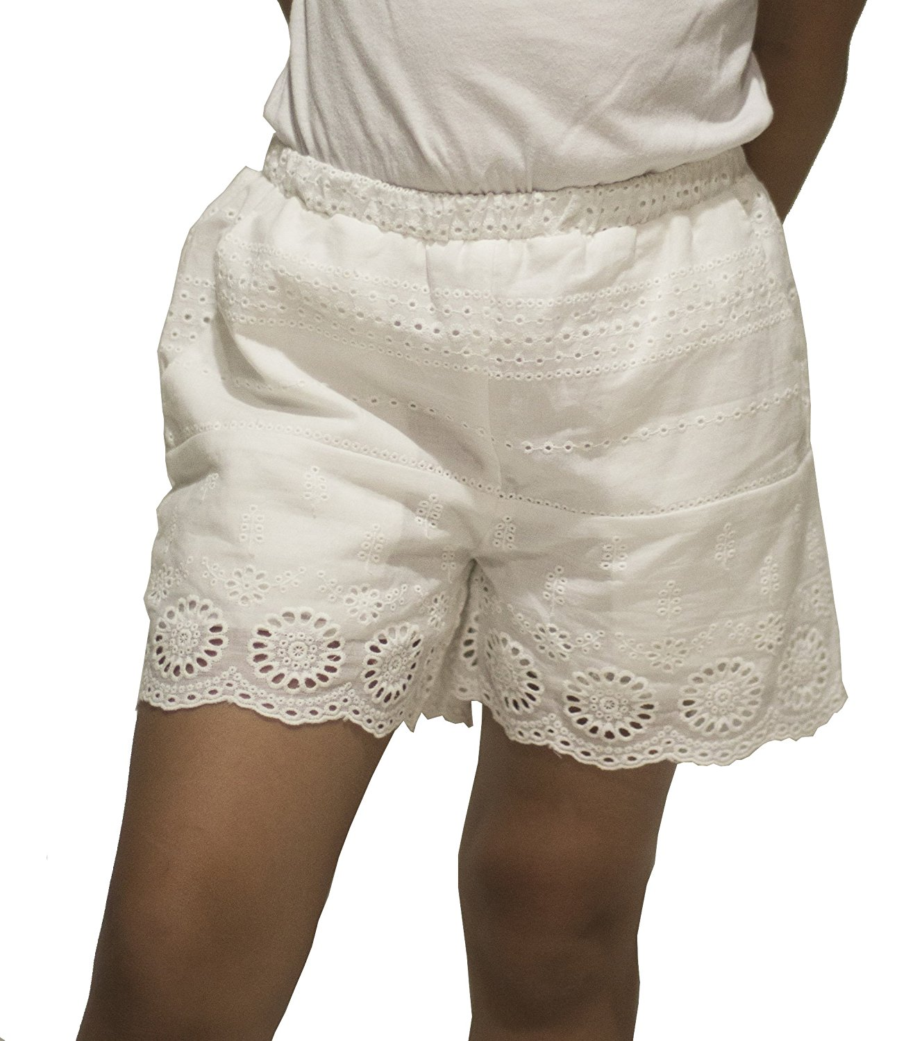 First Impressions Baby Girls 0-24 Months Eyelet Cotton Shorts White 6-9 Months