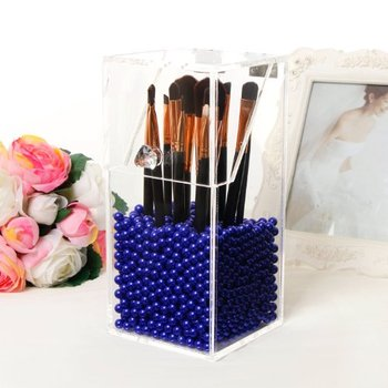 Large Dust Free Clear Acrylic Makeup Organizer DIY Brushes Holder Case Storage Cosmetic Display Box With