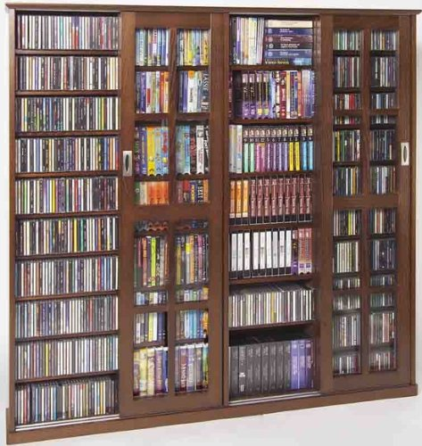 Buy Leslie Dame Ms 1400w Mission Style Multimedia Storage Cabinet