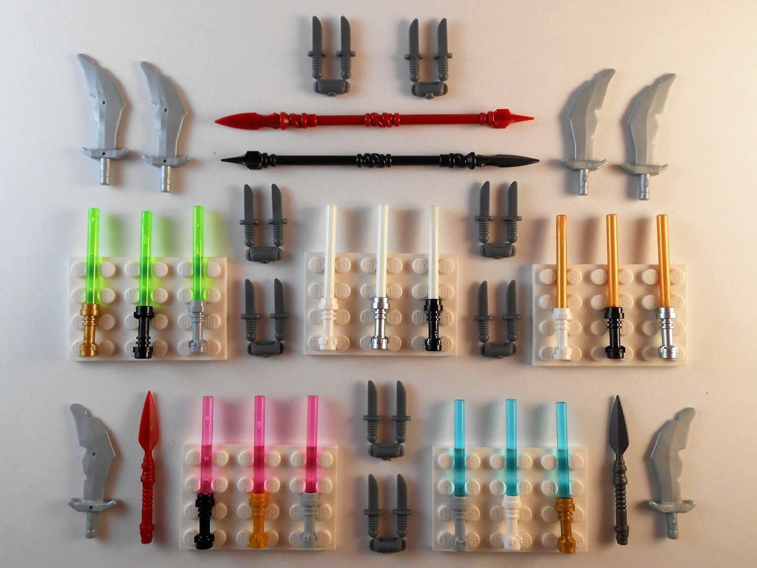 GLOW IN THE DARK Lego Lightsabers Lot of 41 Brand New! Star Wars Weapons