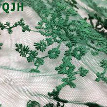 Новинка 2018, Цветочная прозрачная сетчатая вышивка, кружевная ткань, французская вуаль, гипюр, Тюлевая сетчатая ткань для платья шириной 130 с...(Китай)