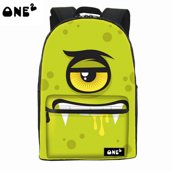 ONE2 popular design colorful Bacteria custom backpack for teenager