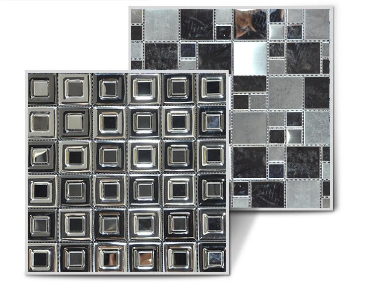 HS-M4010 सफेद पत्थर चूना पत्थर मोज़ेक टाइल backsplash