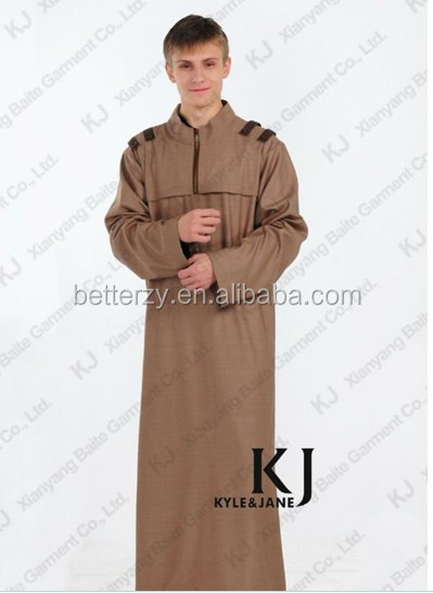 Kj-tb507 Muslim Man Thobe Islamic Man Galabiya Arabic Man Robe ...